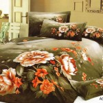 Wonder Large Japan Bed Linen with Green Flower Motif