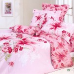 Exclusive Large Japan Bed Linen with Pink Flower Motif