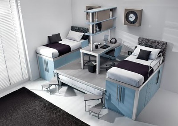 Luxury Teenage Loft Bedroom Design