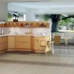 New Light Oak Formal Wooden Kitchen Design Collection