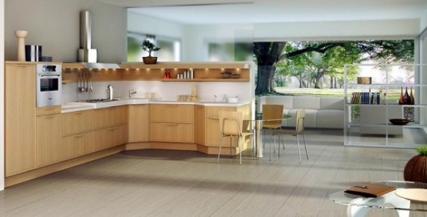 New Light Oak Formal Wooden Kitchen Design Collection