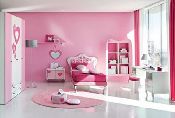 ... Luxurious Pink Barbie Bedroom Design ...