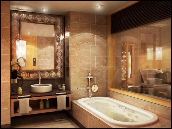 Exquisite and beautiful bathroom design interior gallery for Beautiful houses interior bathrooms