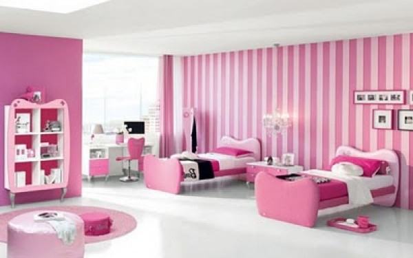 Modern Pink Barbie Bedroom Design Concept