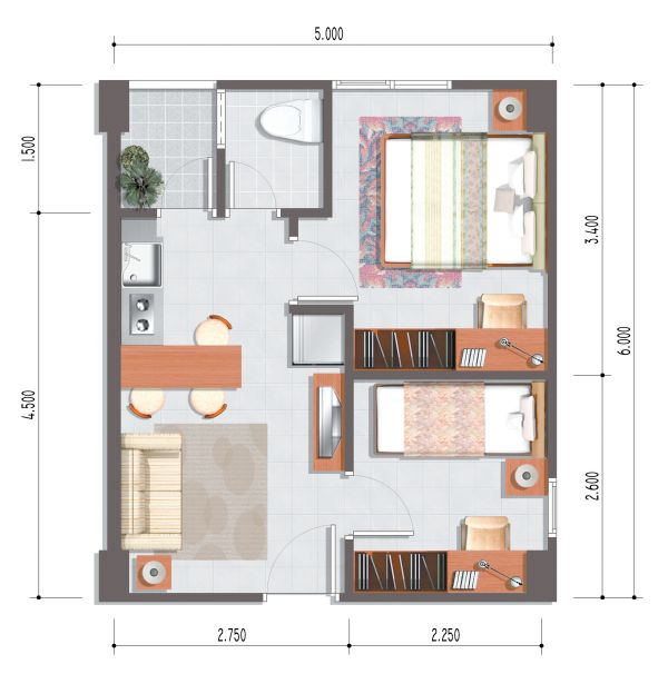 Studio apartment decorating interior design ideas - Studio apartment decor ...