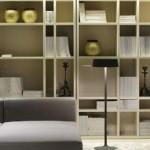 Contemporary Meridiani Home Lane Bookshelf Bookcase
