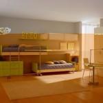 Bright Berloni Double Bedroom Design for Kids
