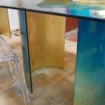 Best Marine Glass Dining Table Design Photo