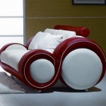 Red and White Sofa Design Model