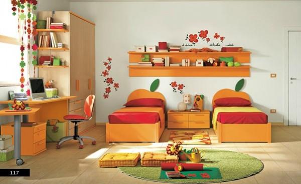 Latest Orange Kids Bedroom Design Inspiration