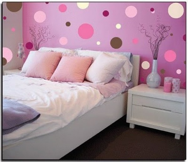 Amazing  bedroom design interior with pink color new pink polka room design 600 x 516 · 61 kB · jpeg
