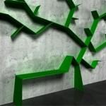 Latest Green Shelves Design Image