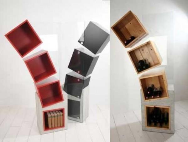 Prove shelves type home interior design ideas for Modern minimalist bookcase