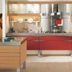 Luxury Red Wooden Kitchen Design Theme