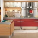 Luxury Red Wooden Kitchen Design Theme