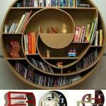 New Round Strange Bookshelf Design