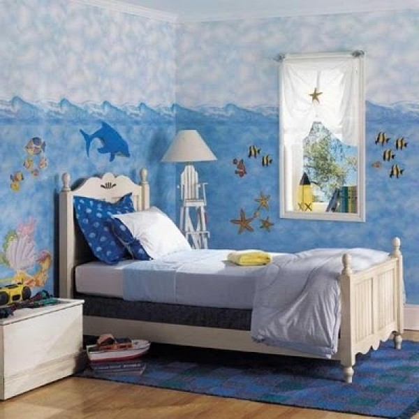 Ocean Bedroom Decorating Ideas: Sea Theme Kids Bedroom Design