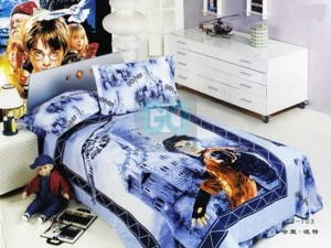 Sweet Small Japan Bed Linen with Blue Harry Potter Motive