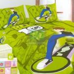 Comfort Small Japan Bed Linen with Green Ben Ten Motive