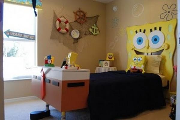 Spongebob Themed Kids Bedroom Decor