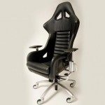 Black Office Rolling Chair Model