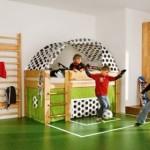 Funny Sports Theme Kids Bedroom Design