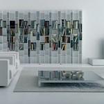 Futuristic Tall Library Shelving Design Theme