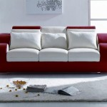 Ultra Luxurious Sofa Furniture Red and White Color