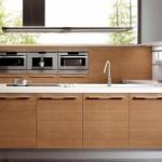 Artistic Walnut Wood Sintesi Kitchen Design