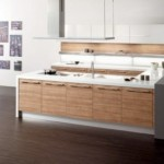 Fantastic Walnut Wood Sintesi Kitchen Model