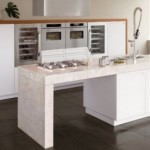 Top White Oak Wooden Kitchen Terra