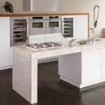 Top White Oak Wooden Kitchen Terra