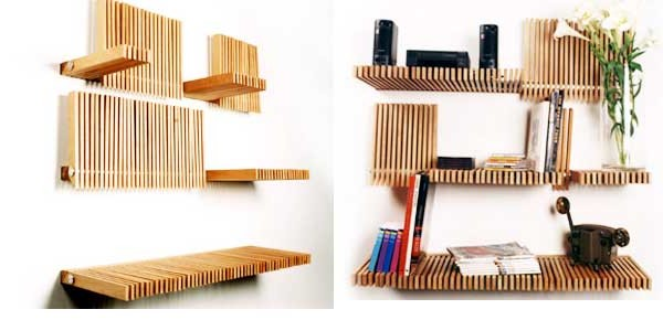 Incredible Bookshelf Designs Wooden 600 x 290 · 38 kB · jpeg