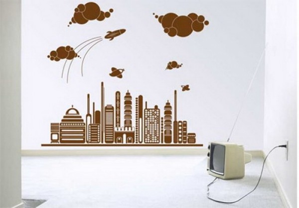 Awesome And Charming Wall Sticker Design Model | Home Interior