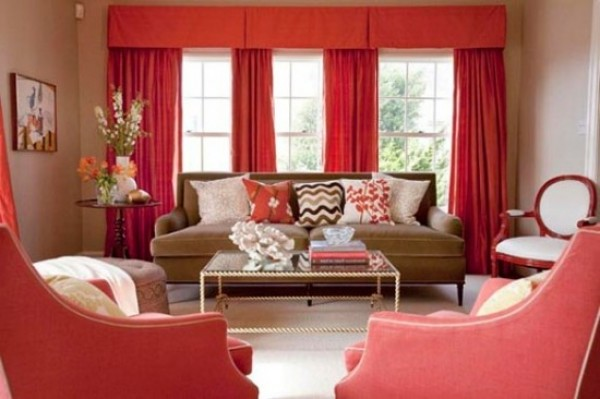 Remarkable Living Room with Red Color 600 x 399 · 52 kB · jpeg