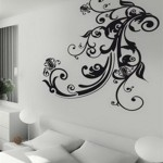 Awesome Wall Sticker Decorating Flower Design