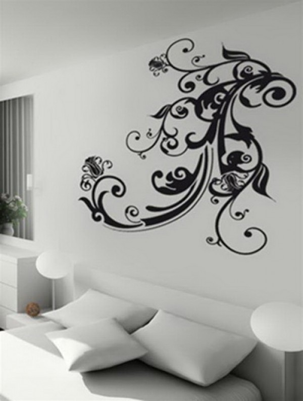 Awesome and Charming Wall Sticker Design Model Home Interior