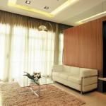 Contemporary Burgundy Living Room Design Model