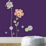 Attractive Wall Sticker Decorating Flower Design