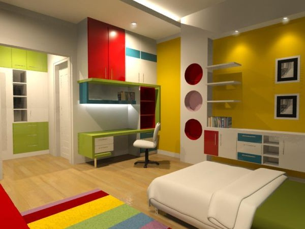 Funny Villa House Kids Bedroom Design Interior
