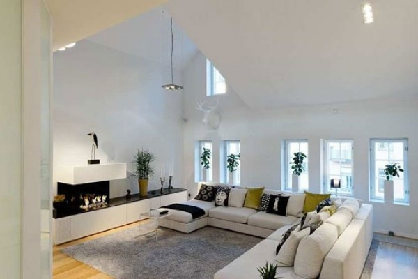 Modern Contemporary Duplex Apartment Decorating Design Fantastic ...