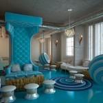 Luxurious Blue Color Design Interior Theme