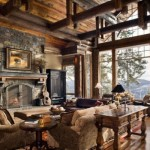 Interesting Rustic Living Room Design Model
