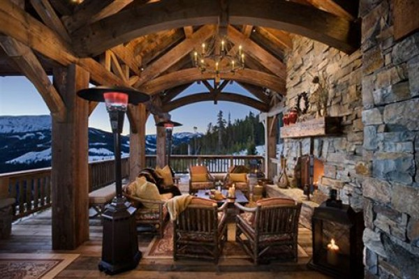 Rustic Country Interior Porch Design