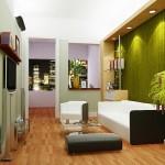 Futuristic Natural Living Room Interior Design Photo