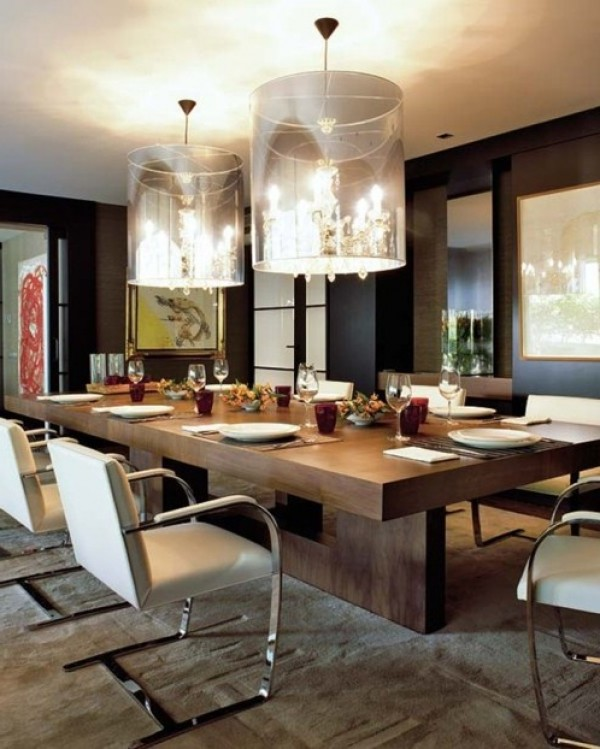 Contemporary dining room design theme home interior design ideas for Decoration table salle a manger