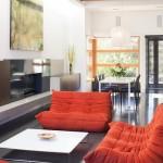 Good Red Leather Sofa Design Photo