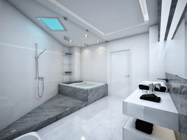 Latest Bathroom Design. Bathroom Is Decorated With 8 Digital