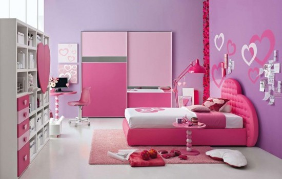 Exciting Pink Girl Bedroom Interior Design
